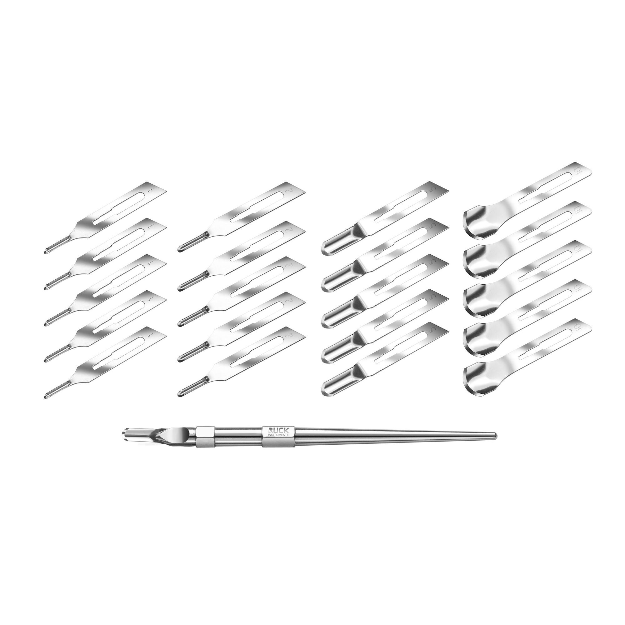 Pack - Porte-lames + Lames de burin - 5 x 1V, 2V, 3V et 10 - Ruck