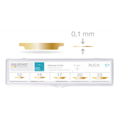 Pack - 5 languettes 0,1 mm + 1 boite - Attelle complète - Ruck