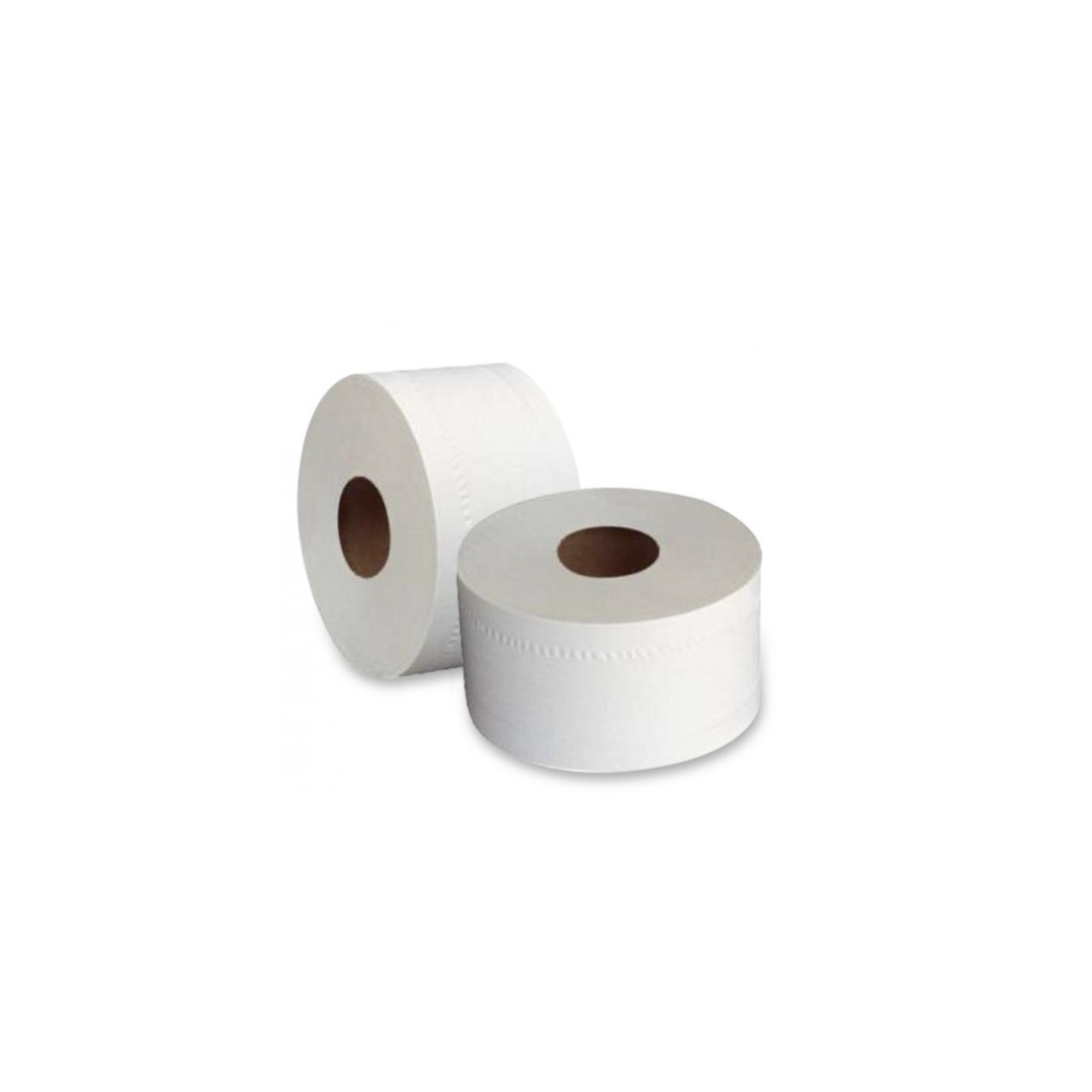 Papier toilette gauffré blanc 2 plis - Mini Jumbo -  130 m - 12 Rouleaux