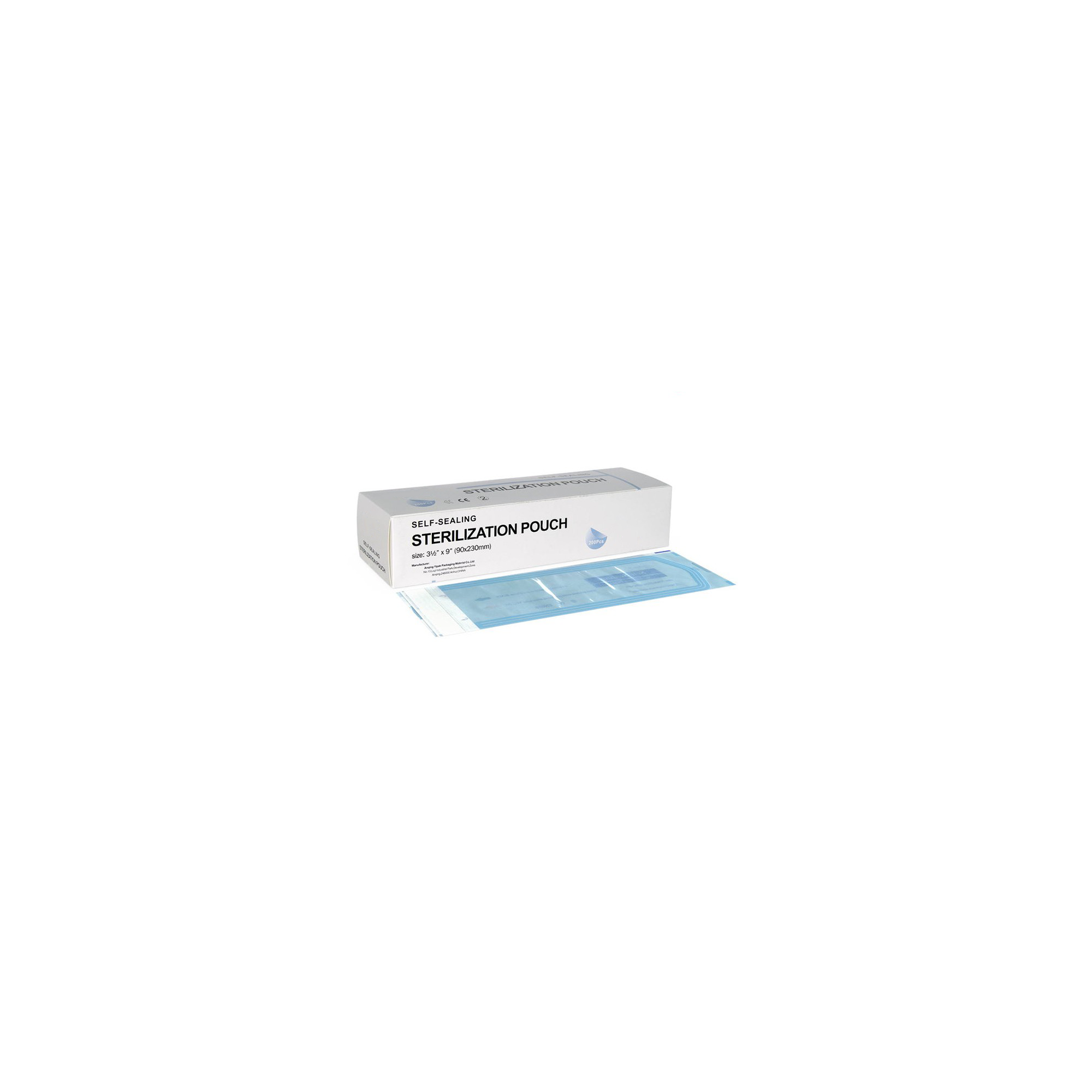 Sachets de stérilisation à fermeture autocolante