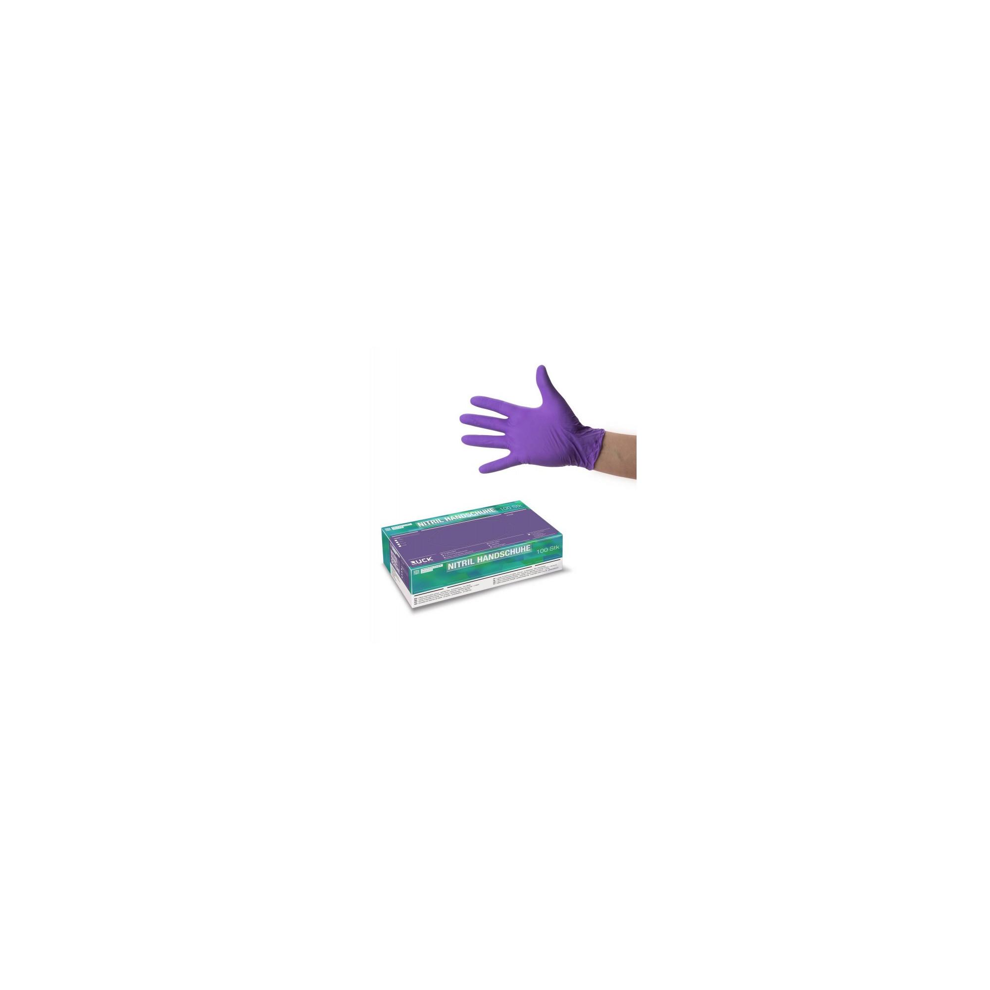 Gants sans latex non poudrés violets