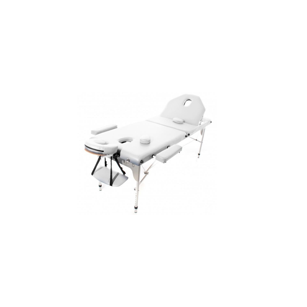 Table de massage pliante en aluminium Blanche