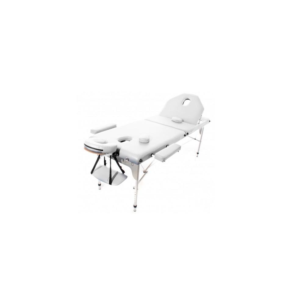 Table de massage pliante en aluminium Blanche