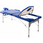 Table de massage pliante en aluminum Bleu 186x66 cm