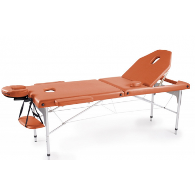 Table de massage pliante en aluminium Orange 186x66 cm