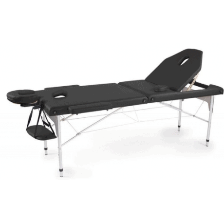 Table de massage pliante en aluminium Noir 186x66 cm