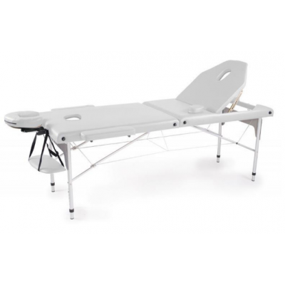 Table de massage pliante en aluminium Blanc 186x66 cm