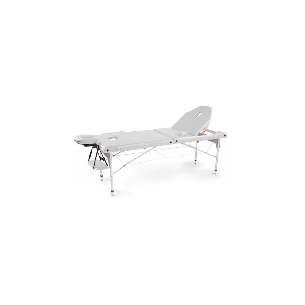 Table de massage pliante en aluminium Blanc 186x66 cm