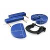 Table de massage pliante en bois 182 x 60 cm sans dossier Bleu