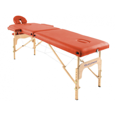 Table de massage pliante en bois 182 x 60 cm sans dossier Orange