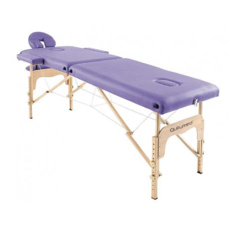 Table de massage pliante en bois 182 x 60 cm sans dossier Mauve