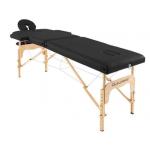 Table de massage pliante en bois 182 x 60 cm sans dossier Noir