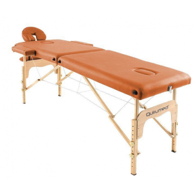 Table de massage pliante en bois 186 x 66 cm sans dossier Orange