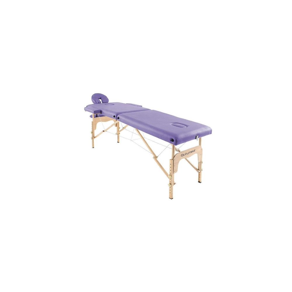 Table de massage pliante en bois 186 x 66 cm sans dossier Mauve
