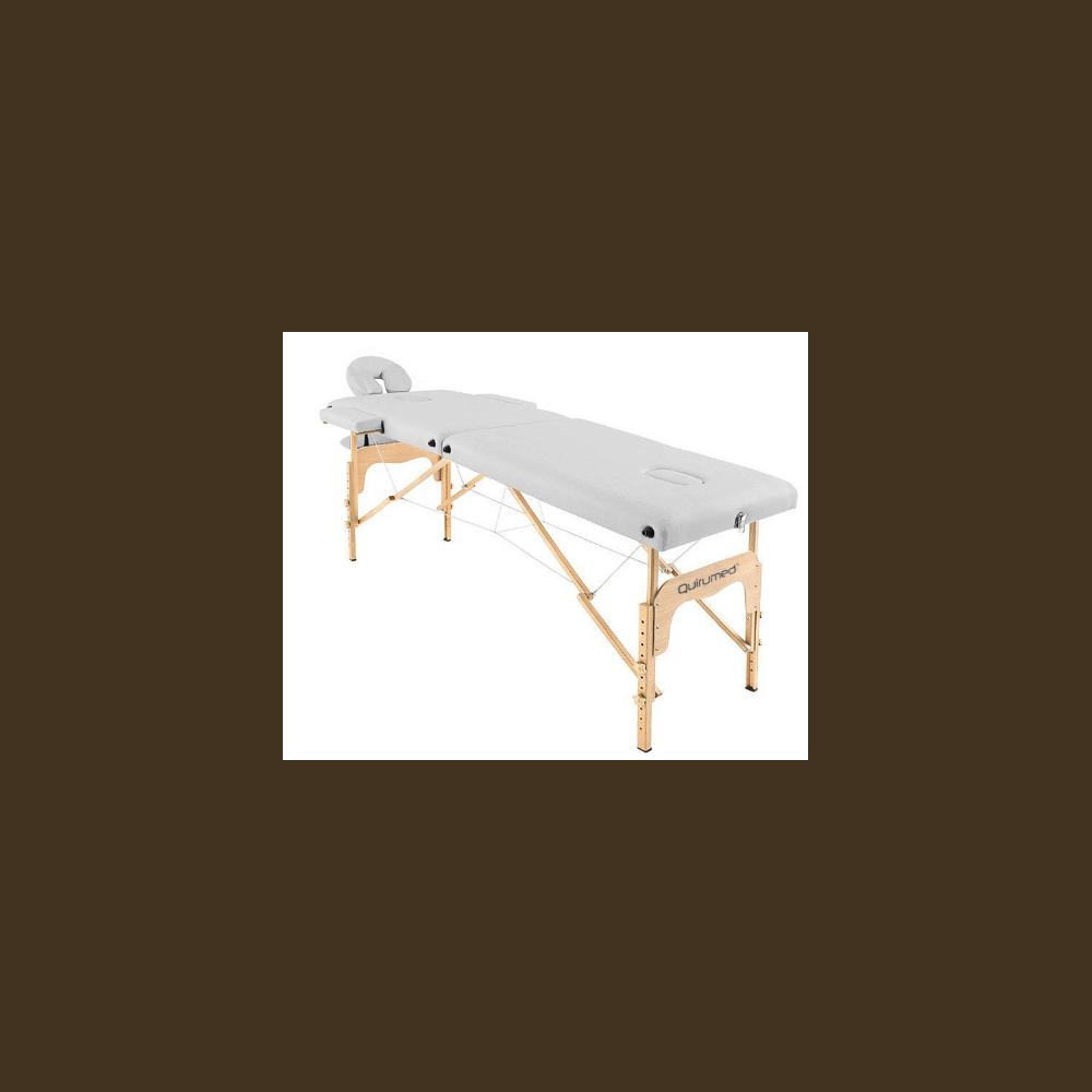 Table de massage pliante en bois 186 x 66 cm sans dossier Blanc