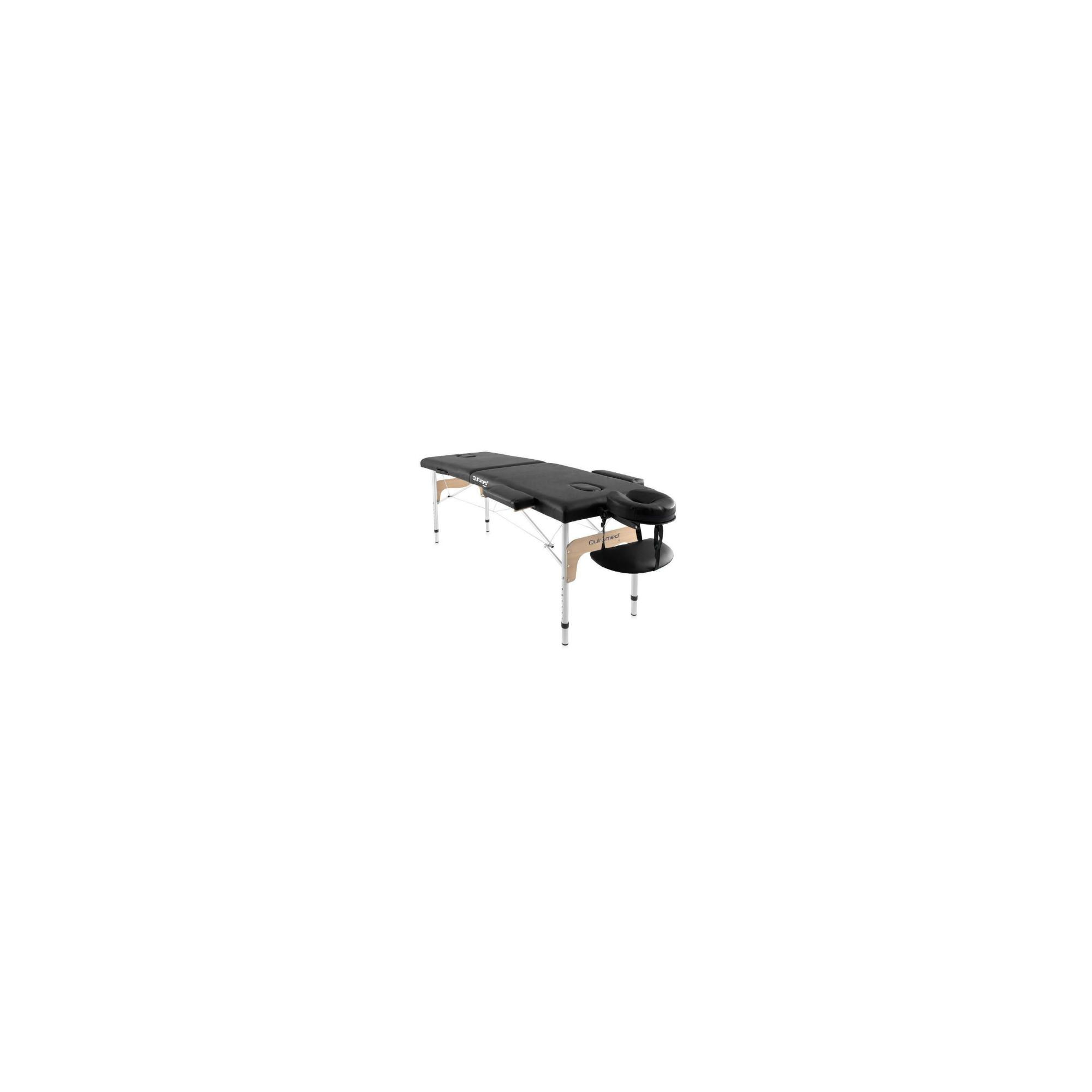 Table de massage pliante en aluminium 180 x 60 cm sans dossier Noir