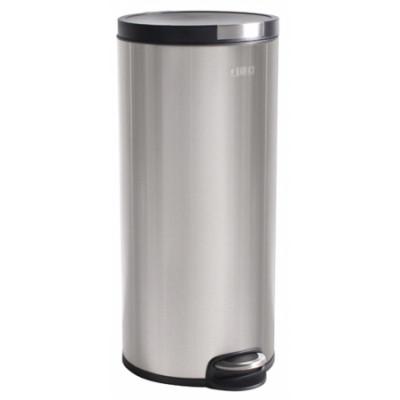 Poubelle Cylindrique 30L anti-trace de doigts