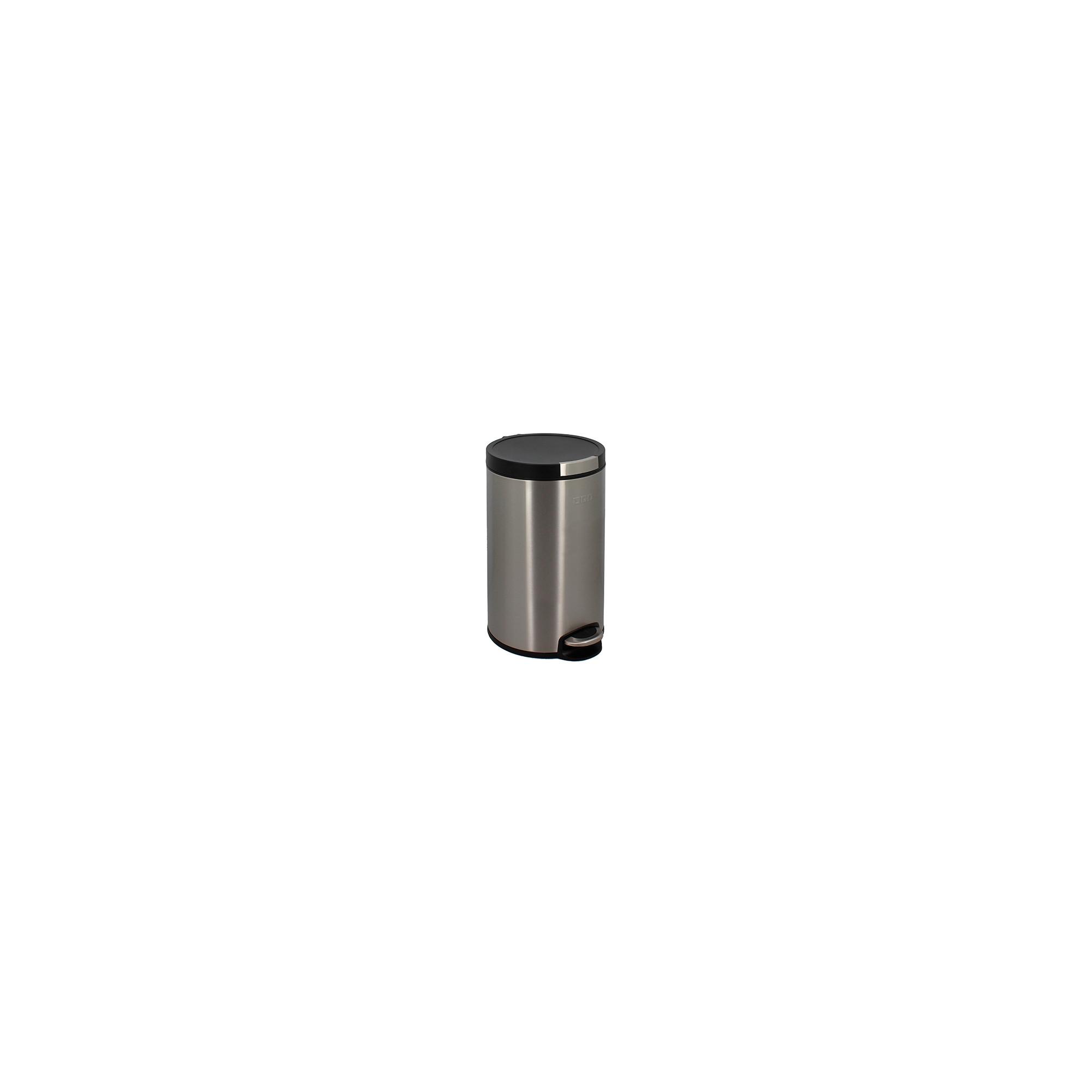 Poubelle Cylindrique 12L Inox brossé anti-trace de doigts