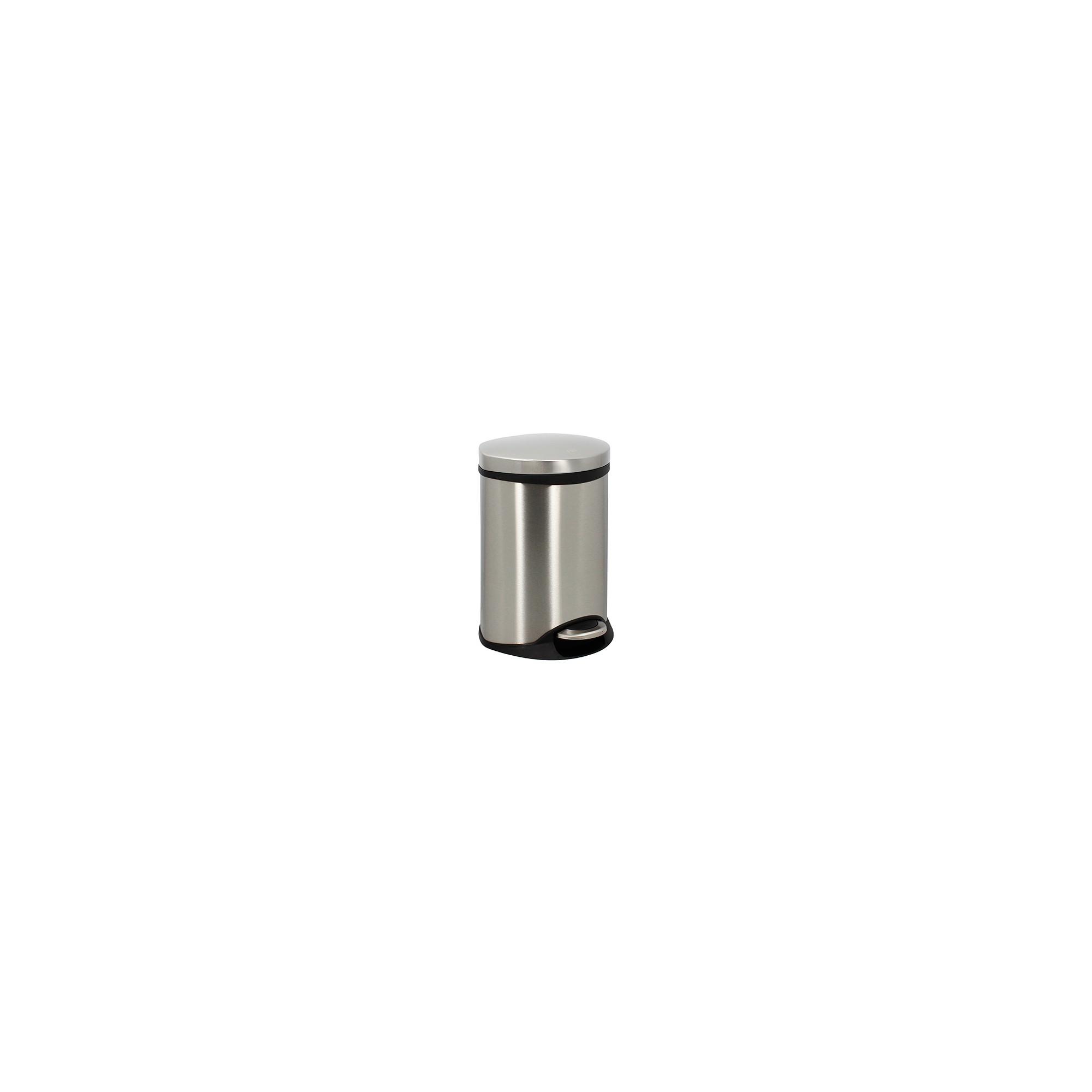 Poubelle Semi Cylindrique 6L Inox Brossé anti-trace de doigts