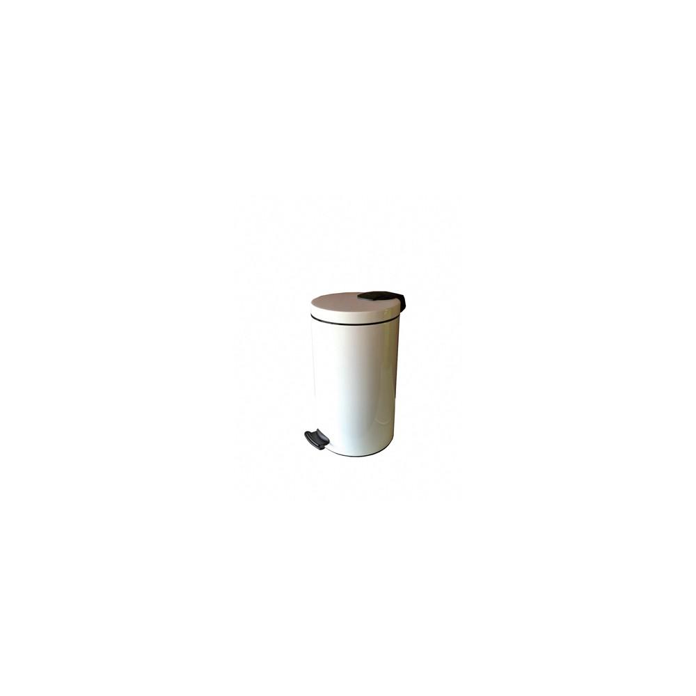 Poubelle en Epoxy Blanc avec Pédale 30L