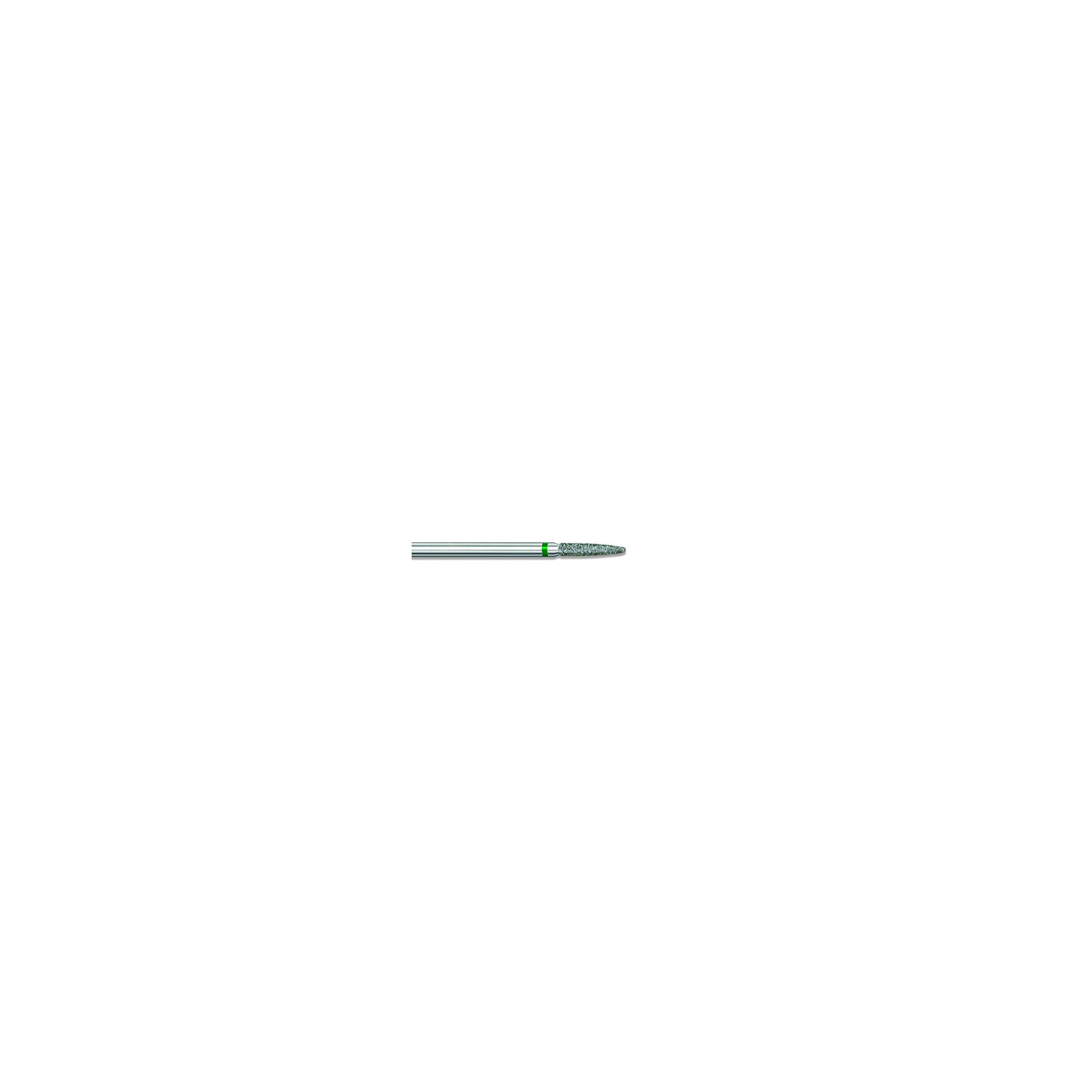 Fraise diamantée standard - Abrasion des callosités et dégrossissage de l'ongle - Gros grain - Pack de 2 fraises - ø1,9mm