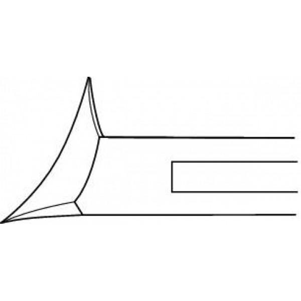 Pince à ongles courbée oblique 14 cm Ruck