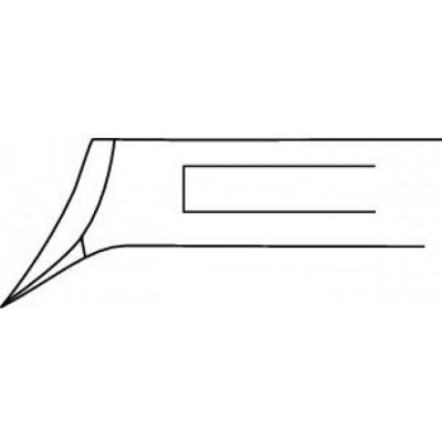 Pince à ongles courbée - mors légèrement concaves - 10 cm Ruck