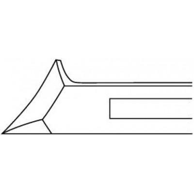 Pince à ongles courbée - coupe droite - 13,5cm Ruck