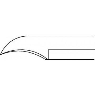 Pince à ongles courbée - avec ressort amortisseur - mors concaves - 11,5 cm Ruck