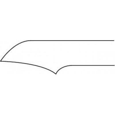 Pince à ongles courbée avec ressort - mors légèrement concaves - 12 cm Ruck