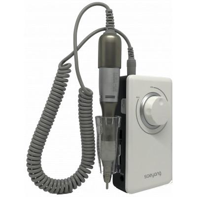 Micromoteur portable K38 - Blanc - 30 000 tr/min - Avec clip et pièce à main démontable