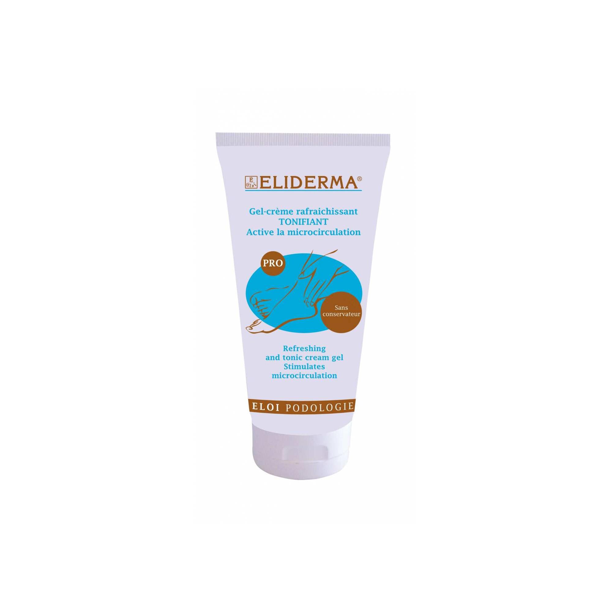 Gel crème Eliderma rafraichissant tonifiant - Active la microcirculation - 75 ml