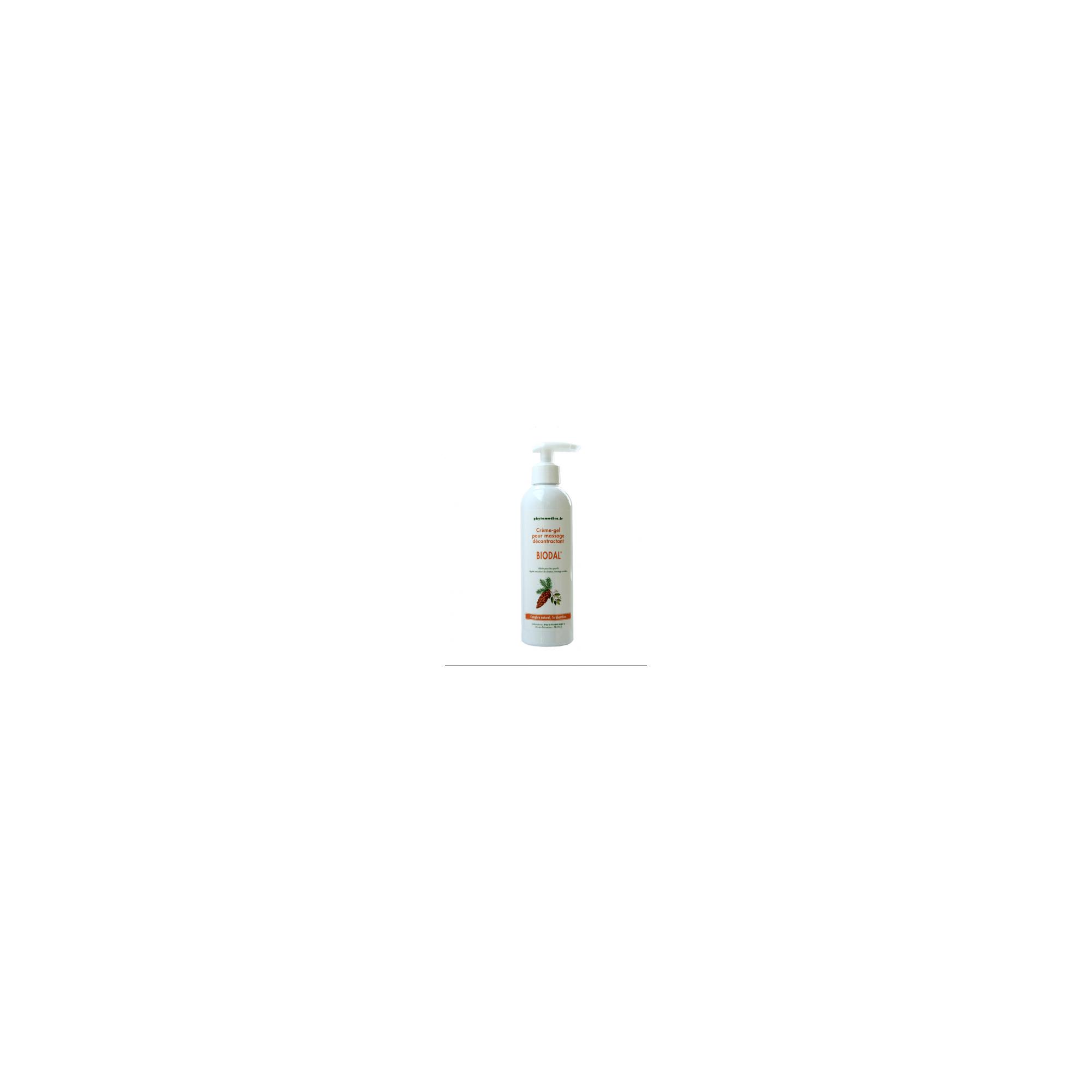 Crème-gel pour massage décontractant - Biodal - Flacon pompe de 250 ml