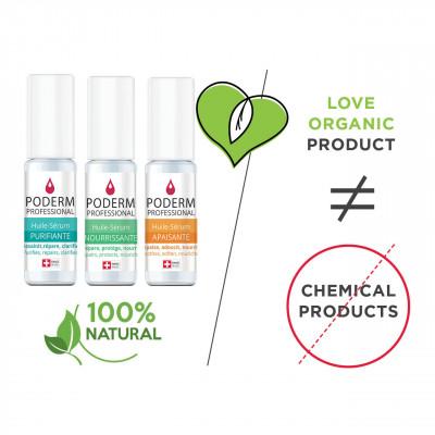 Pack x2 Huile-Sérum Purifiant + Apaisant - 2 x 8 ml - Poderm Professional