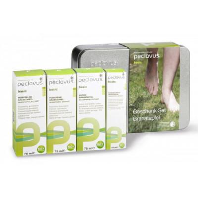 Kit Gamme Basic - 4 soins + coffret en metal - Parfum et vertue de la granade - Peclavus
