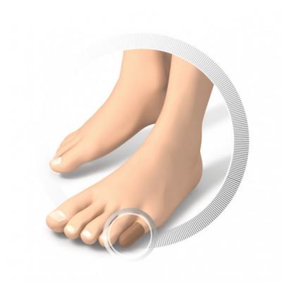 Protection pour orteils - Avec embouts - en tissu et en gel