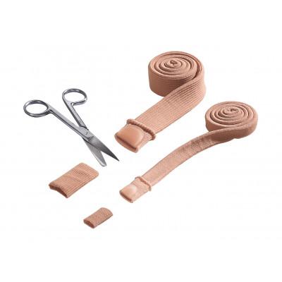 Protection pour orteils demi-face - Soulagement de la pression et du frottement - en tissu et en gel