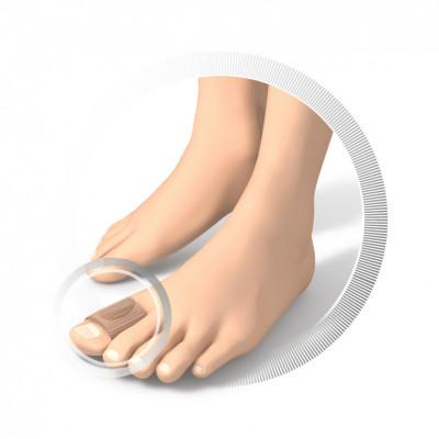 Protection pour orteils - Tissu souple avec coussinet en gel - en tissu et en gel