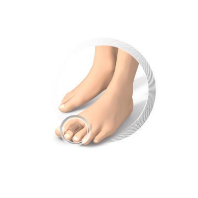 Protection pour orteils -  Lot de coussinets - en tissu et en gel