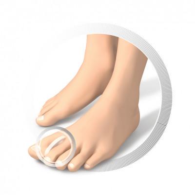 Séparateurs d'orteils en silicone - forme anatomique - 15 pièces