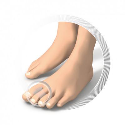 Séparateurs d'orteils en silicone - 2 pièces