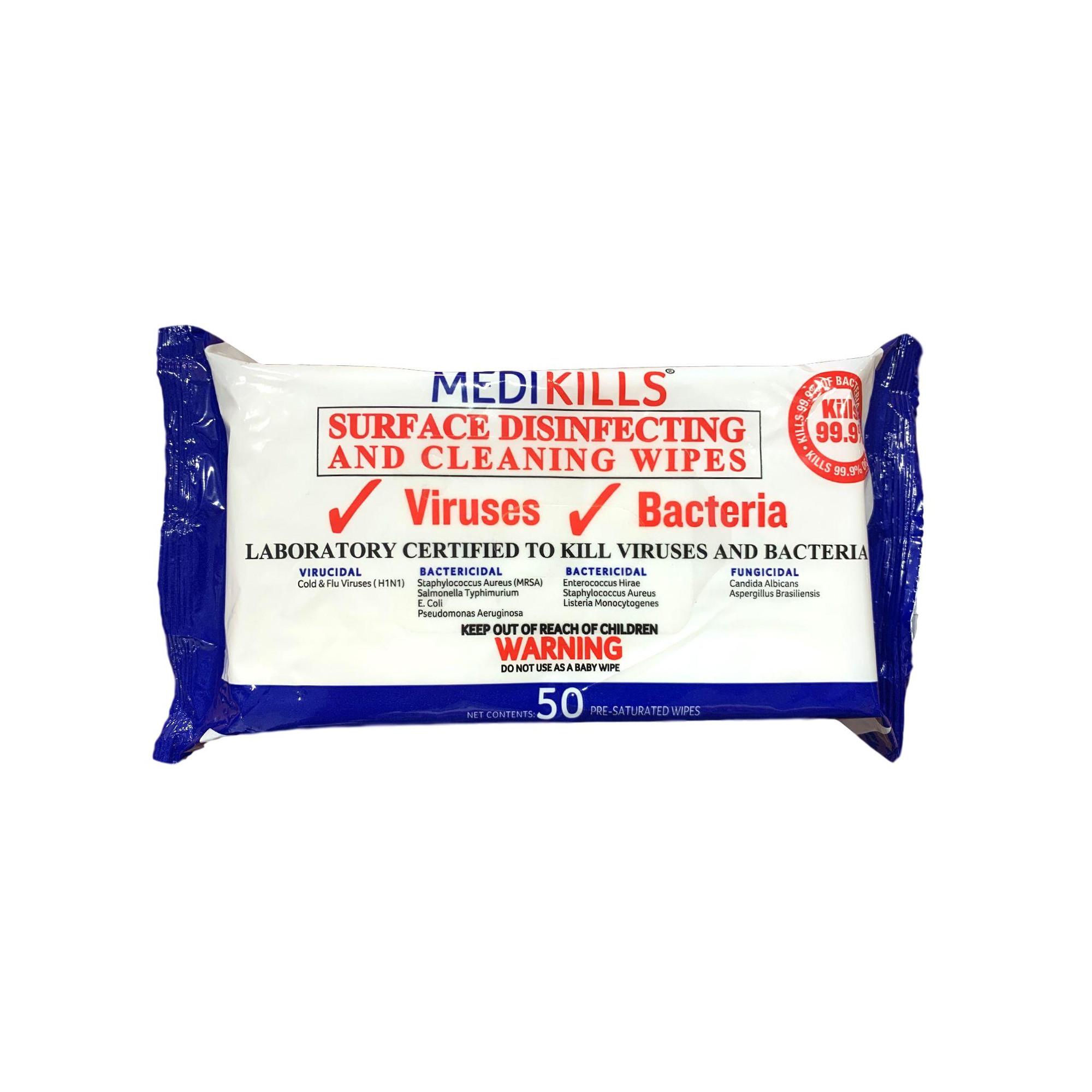 Lingettes virucides - Sachet de 50 lingettes