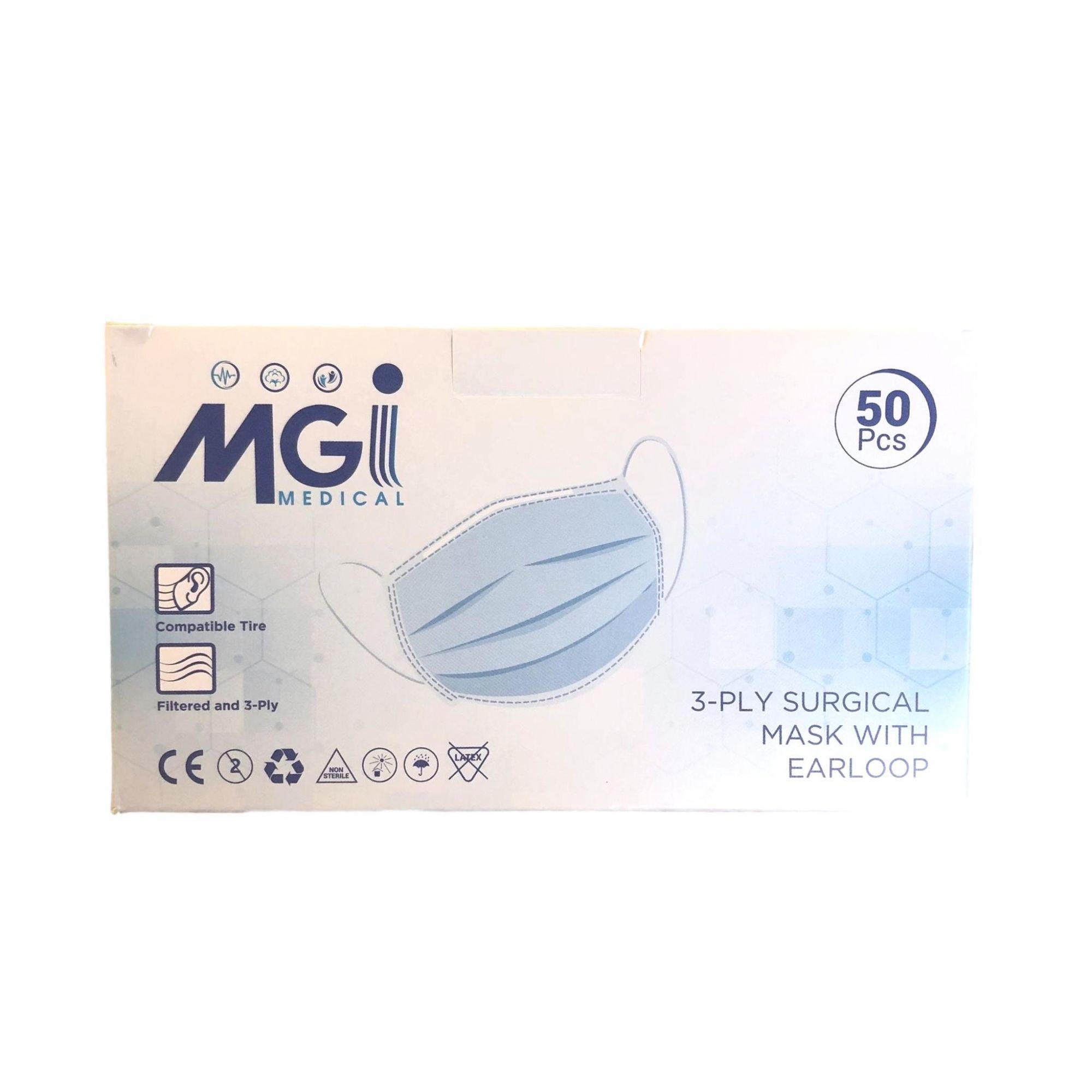 Masque chirurgical 3 plis de type II - Norme EN14683 - Certification CE - Boîte de 50 masques - My Podologie
