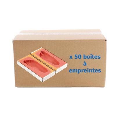 Carton de 50 boîtes à empreintes
