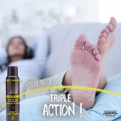Spray Noir Désodorisant pour chaussures 150 ml - AKILEINE
