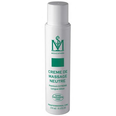 Crème de massage neutre premium extreme longue glisse - 250 ml ou 1L