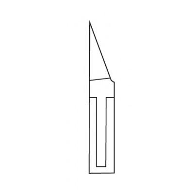 Pince à ongles - 13,5 cm - Mors plats, pointus, effilés - Fermoir agrafe plate - Ouverture automatique - Sam
