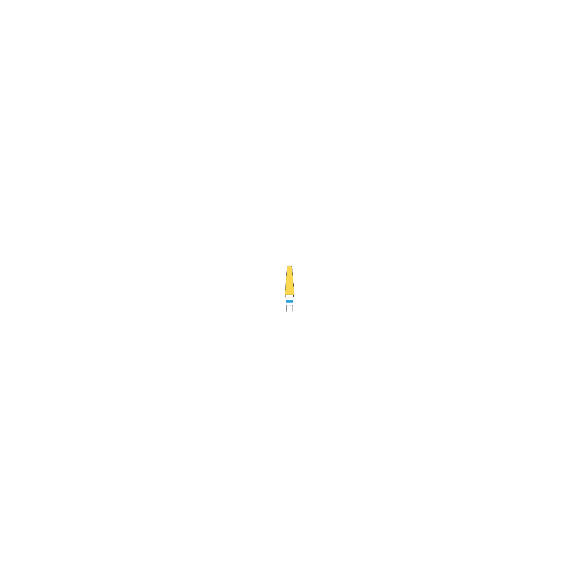 Fraise en carbure de tungstène 5645 - Denture moyenne - 4 mm