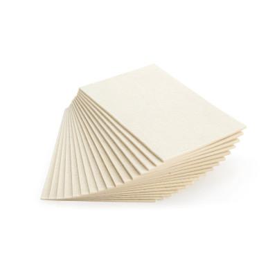 Plaques de feutre adhésif hypoallergenique - 50% laine et 50% acrylique