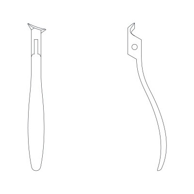 Pince à ongles - Coupe concave 15mm - 10,5cm - Ruck